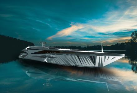 Is this yacht coming from another dimension? 65-metre yacht concept Roswell by George Lucian