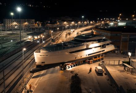 50-metre Wider 165 yacht Cecilia launched by Wider