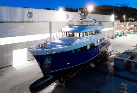 32-metre explorer yacht Gatto launched by Cantiere Delle Marche