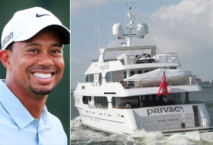 Opulent lifestyle : Tiger Woods' $20 million 47-metre yacht Privacy spotted