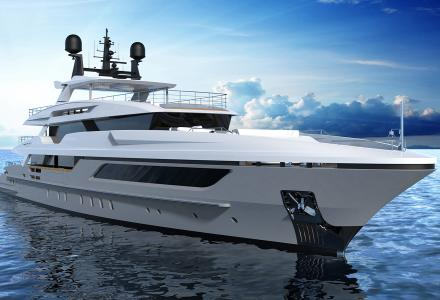 The launch of the Baglietto 48-metre hull #10228 is expected in July