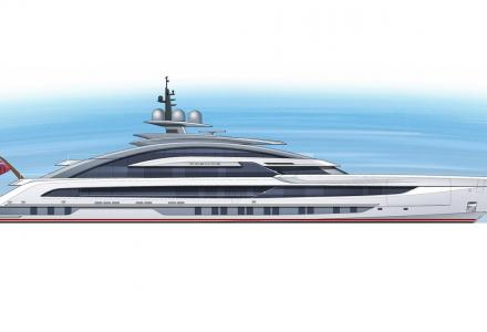 80-metre Heesen's superyacht Project Cosmos with interior by Sinot Exclusive Yacht Design