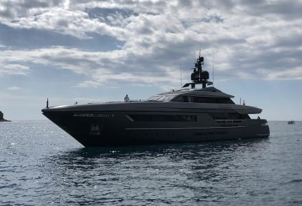 46-metre superyacht Lucky Me by Baglietto spotted in Rovinj, Croatia
