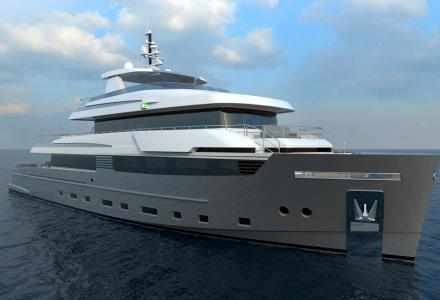 42-metre custom explorer yacht sold by Cantiere delle Marche