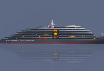 The largest expedition mega yacht - 187.5-metre project Caroline