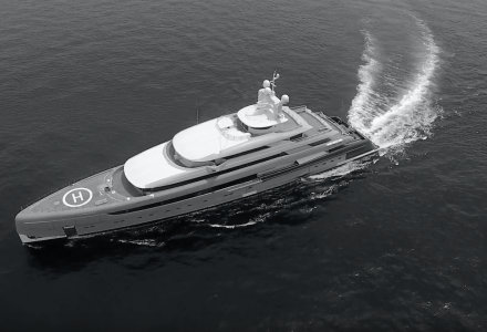 Largest superyacht ever built in China - 88-metre Illusion Plus on sea trials