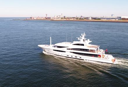 57-metre Amels first hybrid superyacht Volpini 2 delivered