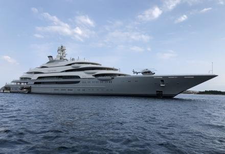 140-metre $300-million billionaire's superyacht Ocean Victory spotted