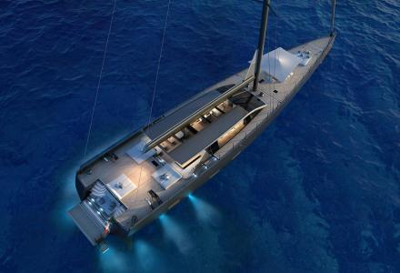 42-metre sailing yacht E-volution sold by Perini Navi