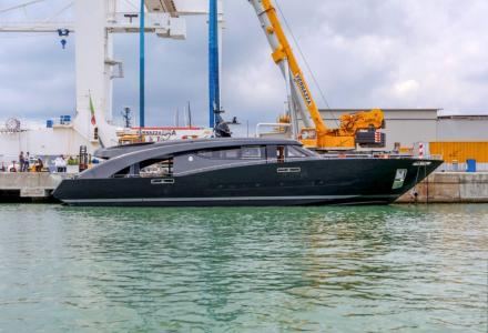 Roberto Cavalli's 27-metre superyacht Freedom launched by CCN