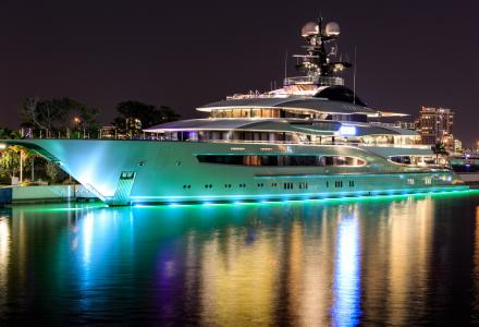 Jay-Z and Beyonce aboard Shahid Khan's $200-million 95-metre superyacht Kismet