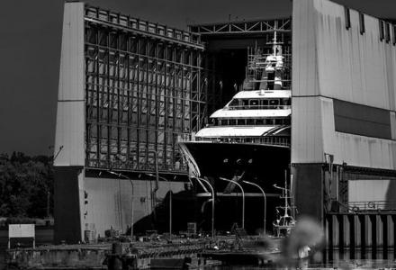 111-metre superyacht TIS launched