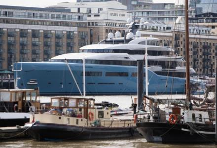 $150 million 98-metre Spur's owner superyacht with the indoor tennis court spotted