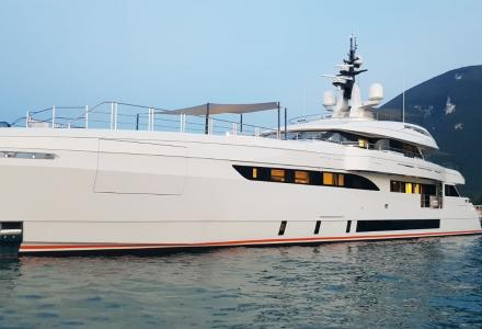 50-metre superyacht Cecilia by Wider on her sea trials