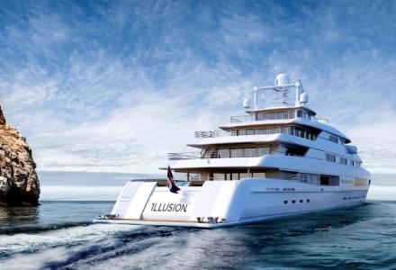 88.5m Illusion Plus sails to Monaco For Y.CO's MYS 2018 display