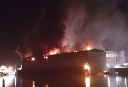 Fire breaks out at Lurssen damaging 100m+ new build