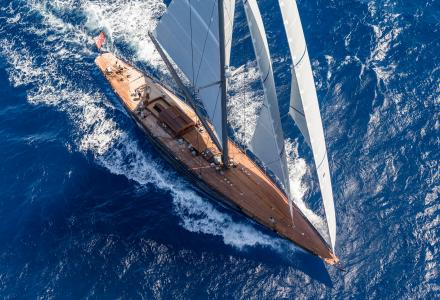 The best in her class : 40-metre sailing yacht Rainbow at the Monaco Yacht Show 2018