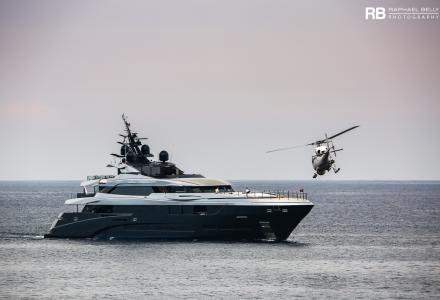 60-meter superyacht Sarastar shooted for a Netflix film in Monaco