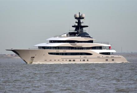 Billionaire's $200-million 95-metre superyacht Kismet spotted on the River Thames