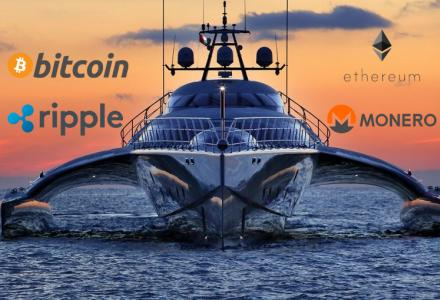Paying for a superyacht charter in cryptocurrencies