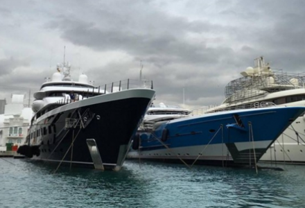 Two largest Feadship yachts to date berthed in Barcelona