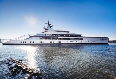 109m Oceanco Project Bravo on sea trials