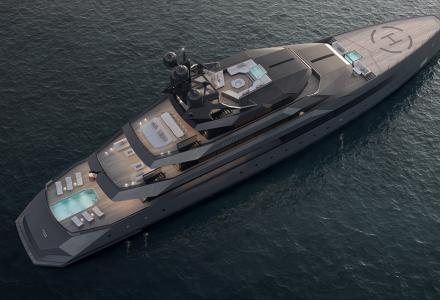 CRN shipyard presented the first render of the 75-meter Begallta superyacht designed by Igor Lobanov