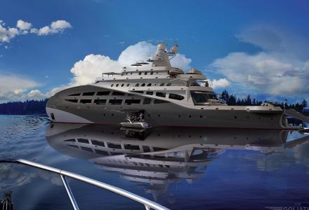 Steve Kozloff unveils the concept of an ice-class yacht Kosatka