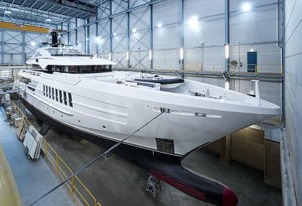 55-meter superyacht Antares launched by Heesen