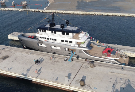 42-meter custom explorer yacht Audace launched by CdM