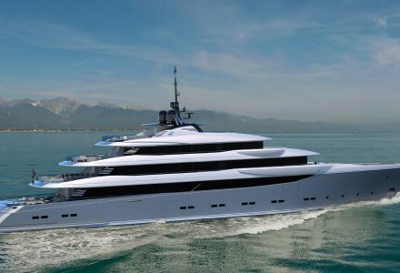 70-metre custom yacht project She by CRN