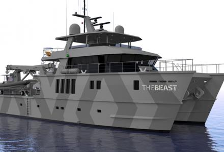 39-meter superyacht The Beast close to delivery