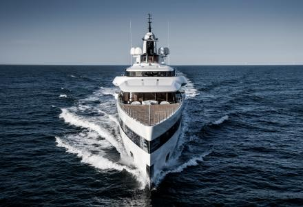93m Feadship Lady S at sea trials in the North sea