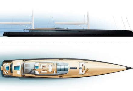 Philippe Briand presents 90-meter sailing megayacht concept