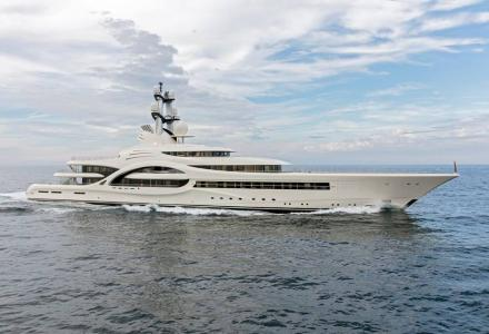 Feadship largest superyacht 110m Anna prepares for summer season