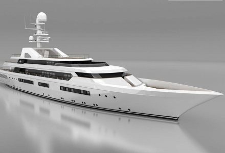 80m Blohm + Voss superyacht Grand Ocean under extensive refit with SSH Martime