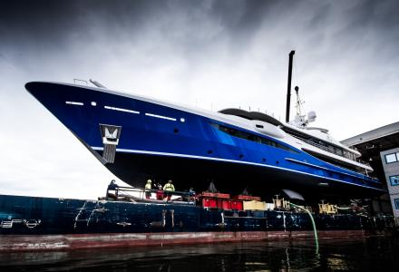 55m Nomad: new Amels 180 superyacht launched