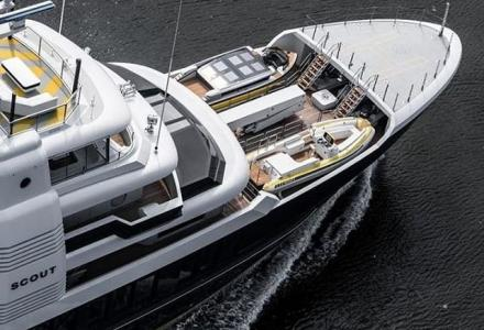 63m explorer superyacht Scout comes complete with new Cockwells tender