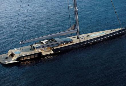 73m sailing superyacht concept MM725 by Malcolm McKeon from the inside and outside