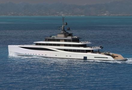 78m superyacht concept The Island with expanding beach club by Nauta Yachts