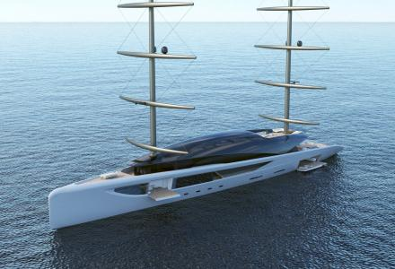 80m superyacht concept Manta by awarded Young Designer of the Year