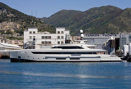 Tankoa launches 50m superyacht Binta D'Or with four hybrid propulsion modes