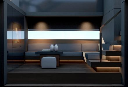 Elegant interiors of Mazu 82 revealed by Turkish designer Tanju Özelgin