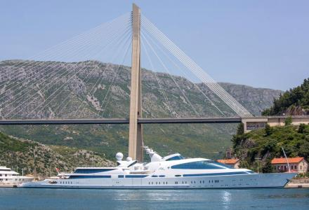 141m superyacht Yas spotted in Dubrovnik