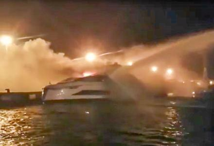 Evo 120: another Tecnomar yacht destroyed by fire