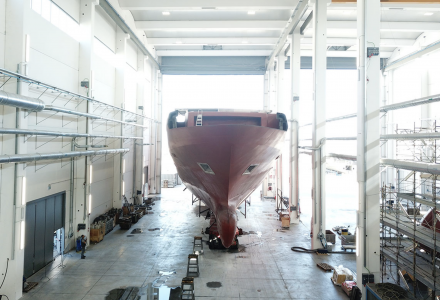 65m ISA Classic superyacht is taking shape
