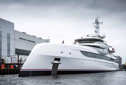 80m Abeking superyacht Excellence on sea trials