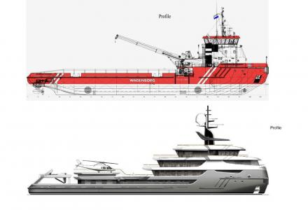 68m conversion Project Ragnar nearing completion at Icon Yachts
