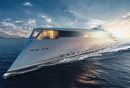 Sinot presents a radical 112m hydrogen-powered superyacht concept at the MYS 2019