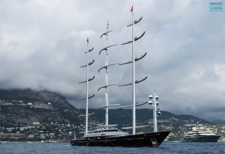 88m Maltese Falcon: the world's former largest sailing superyacht in Monte-Carlo